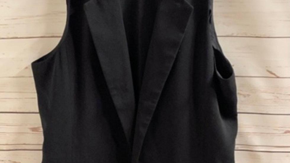 Women's / Ladies Gap Black Waist Coat Size Small Approx 8 Excellent Condition