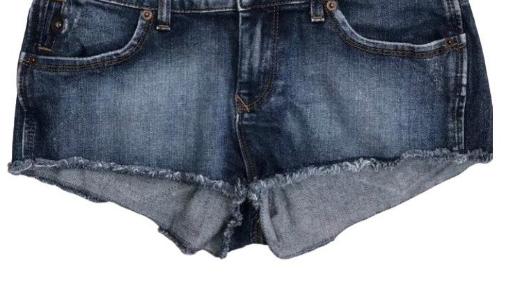 "Womens / Ladies Topshop Moto Denim Shorts Hotpants Size 28"" Waist Immaculate"