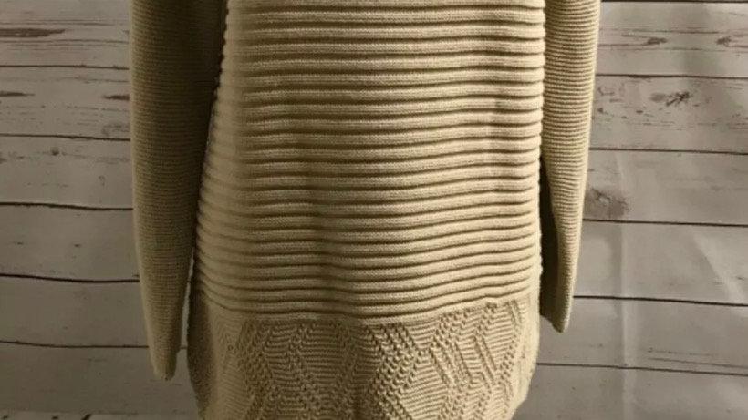Women's / ladies Beige Pulse knit jumper size S/M New
