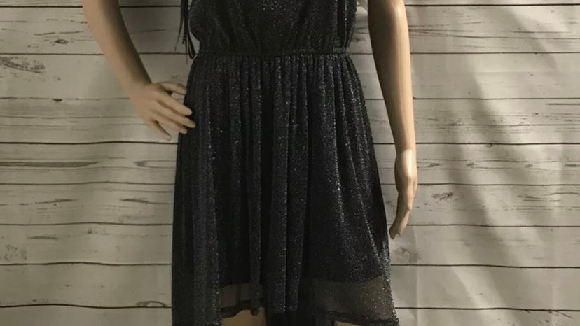 Women's / Ladies Jasmine London Black Sparkle Dress Size 12 Long At Back