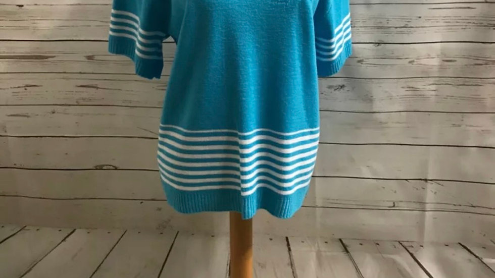 Women's / ladies Blue Glimpse knit jumper size M/L New