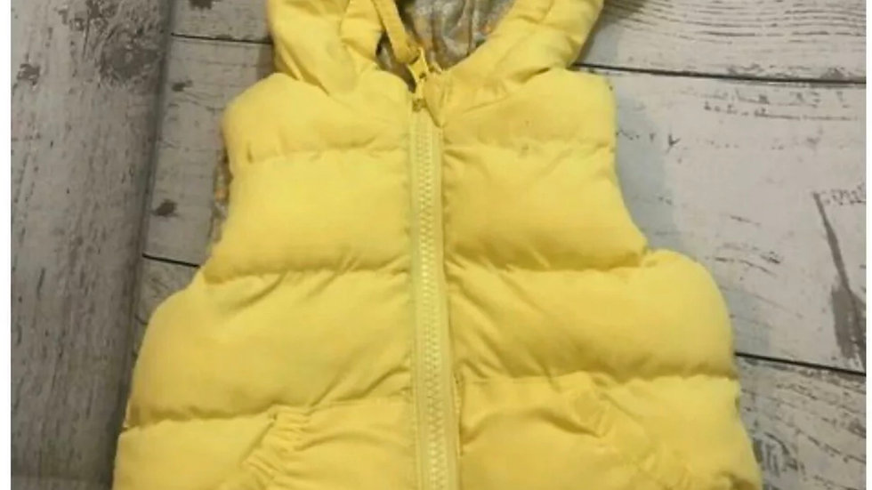 Baby Girls M&CO Yellow Padded Bodywarmer Age 0-3 Months Immaculate Condition