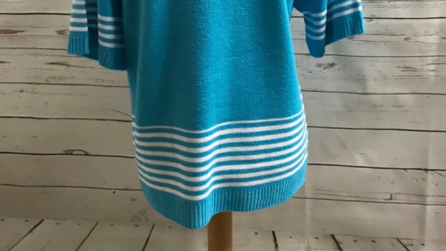 Women's / ladies blue Glimpse knit jumper size S/M New