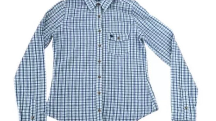 Womens / Ladies Abercrombie & Fitch Blue Check Shirt Size Small - Immaculate
