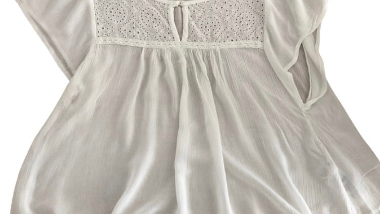 Womens / Ladies Hollister White Blouse Top Size XS - Excellent Condition