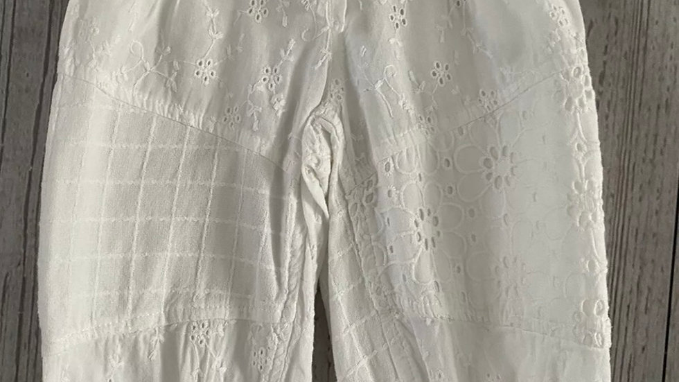 Girls Next White Pretty Trousers Age 12-18 Months - Immaculate Condition