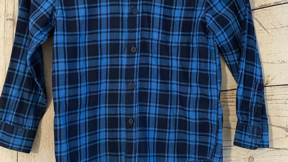 Boys Next Blue Long Sleeve Check Shirt Age 6 Years - Excellent Condition