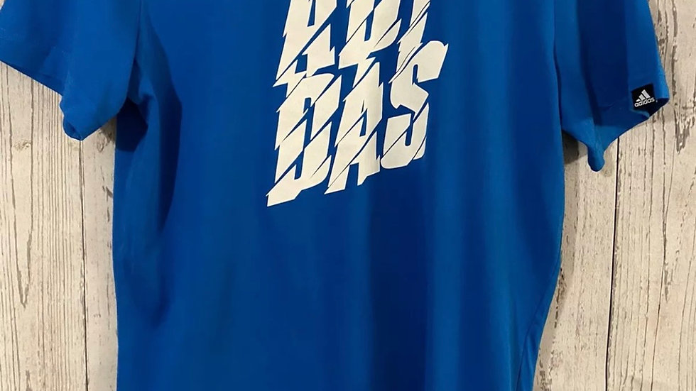 Boys Adidas Blue T-Shirt Age 13-14 Years Immaculate Condition