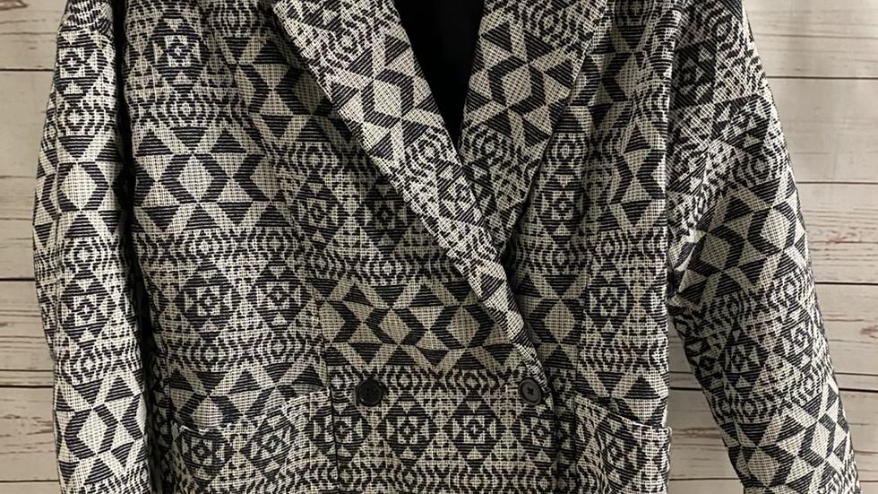 Womens / Ladies Gap Black & White Blazer Textured Jacket Size XS Excellent