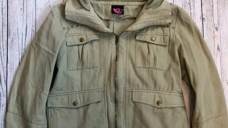 Womens / Ladies TG Short Green Jacket Size 16 - Excellent Condition