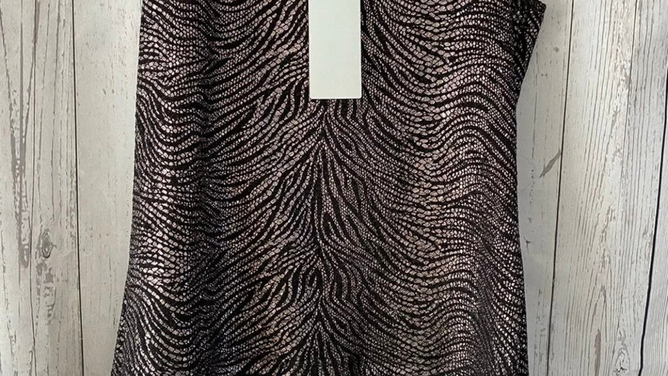 Womens / Ladies Chianti Black & Gold Vest Blouse Size 20 New With Tags