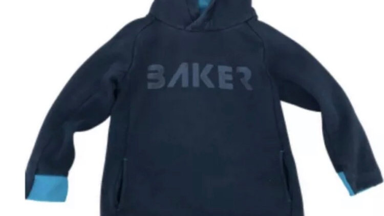 Boys Ted Baker Black Pull Over Hoodie Age 5-6 Years Good Condition