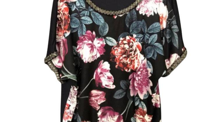 Womens / Ladies Bonmarche Floral Blouse Top Size 16 Excellent Condition