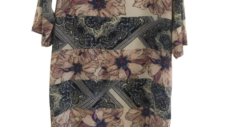 Womens / Ladies River Island Floral T-shirt Dress Size 14 Immaculate