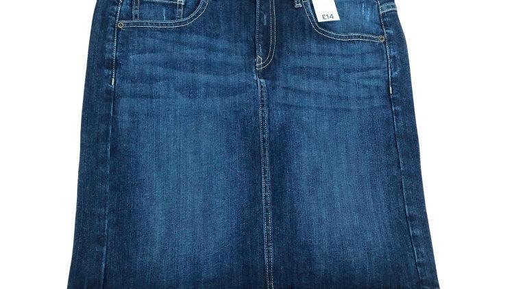Womens / Ladies TU Blue Denim Skirt Size 12 New With Tags
