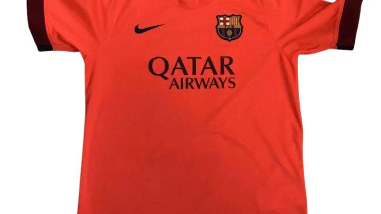 Boys Nike Barcelona Qatar Football Top Age 12-13 Years Immaculate Condition
