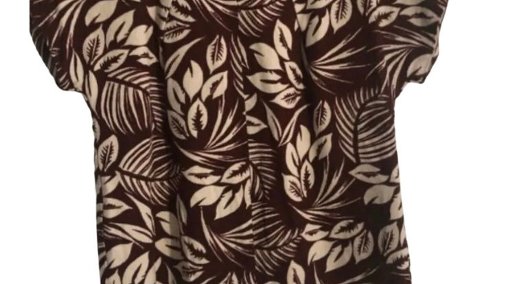 Women's / Ladies Laura Ashley Burgundy Short Sleeve Blouse Top Size 8 Immaculate
