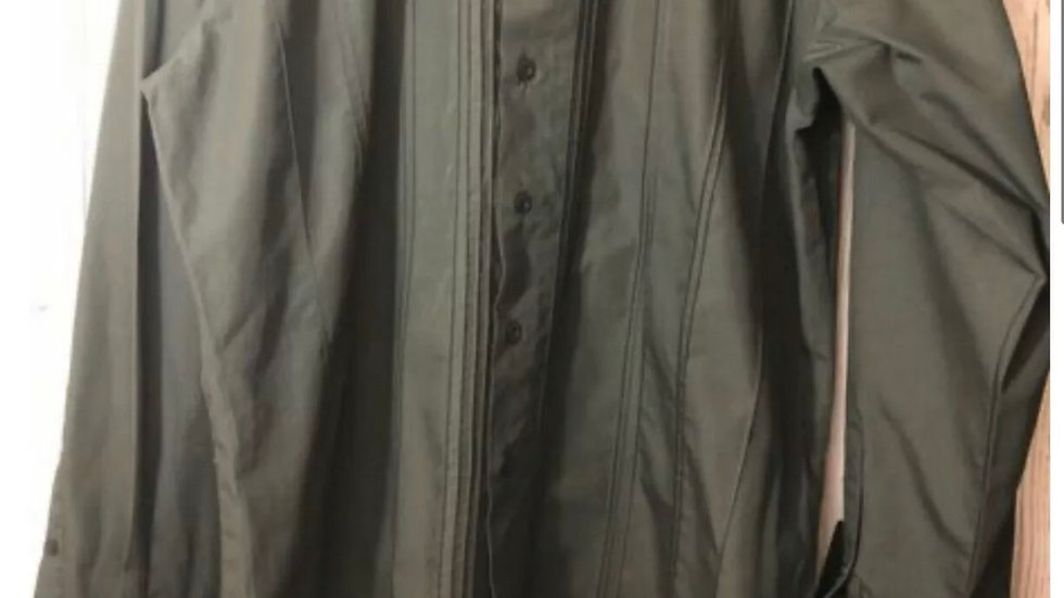 Men's Ben Sherman Black Long Sleeve Cuff Link Shirt Size 2 Medium - Immaculate