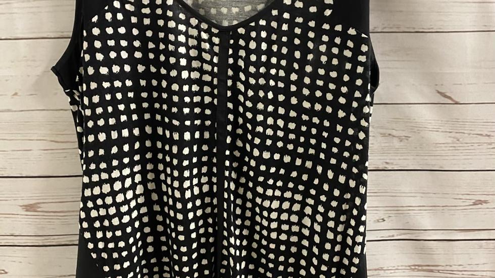 Womens / Ladies Oasis Black White Vest Top Size Medium - Excellent Condition