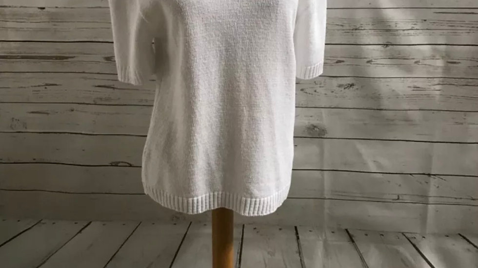 Women's / ladies white glimpse jumper size L/XL new
