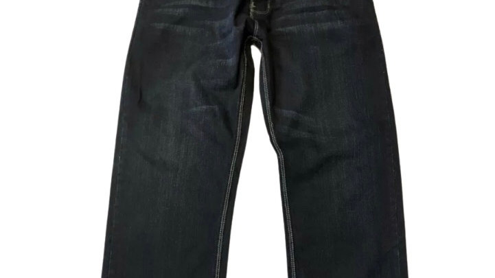 "Mens Petroluem Dark Blue Denim Jeans Size 38"" Waist Long Leg - Excellennt"