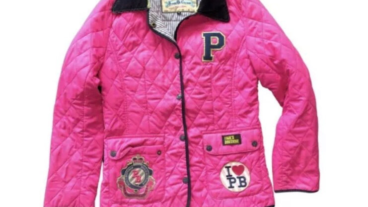 Womens / Ladies Pauls Boutique Pink Quilted Coat Size Small - Immaculate