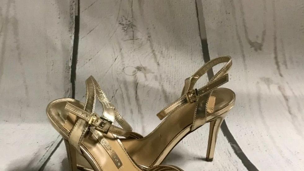 Women's / ladies Marks & Spencer's Gold high heel size 7