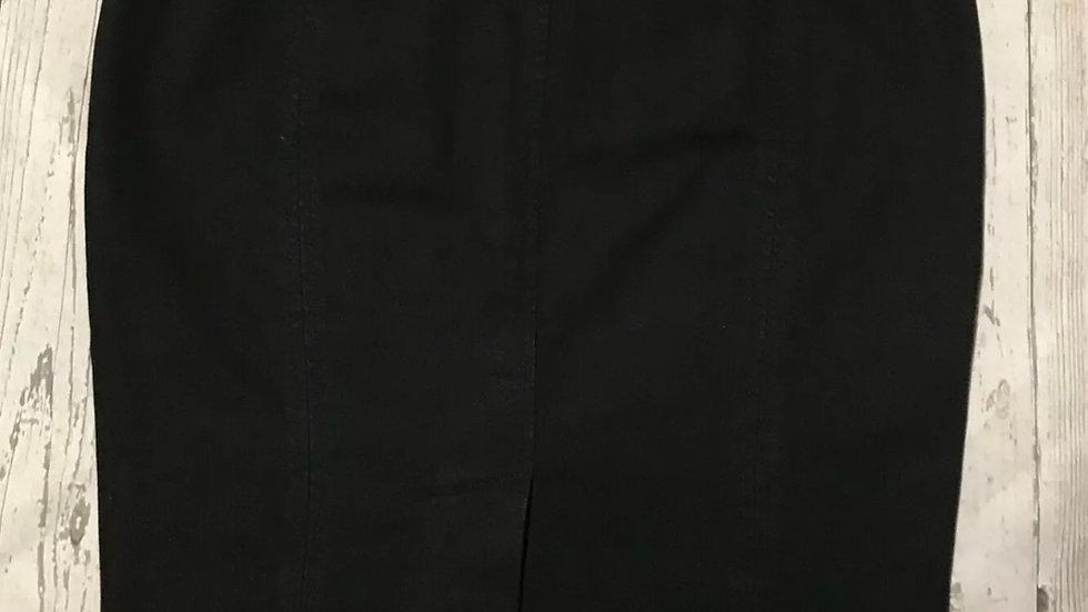 Womens / Ladies F&F Black Denim Skirt Size 10 Immaculate