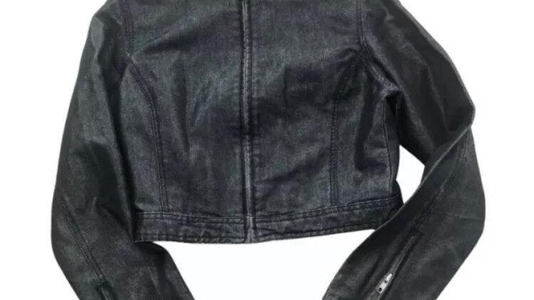 Womens / Ladies Next Blue Denim Cropped Jacket Size 10 Excellent Condition