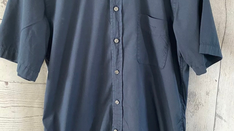 Mens Gant Navy Short Sleeve Shirt Size Small - Immaculate Condition