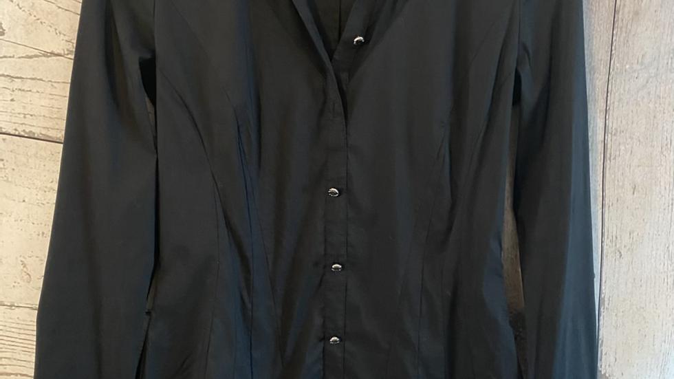 Womens / Ladies Karen Millen Black & Grey Collar Shirt Size 10 Excellent conditi