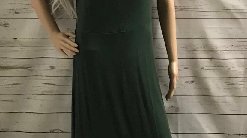 Womens / Ladies Dorothy Perkins Green Maxi Dress Size 14 Missing Belt
