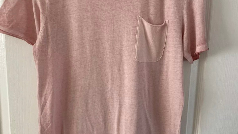 Mens Jack & Jones Pink Short Sleeve T-Shirt Size Medium Immaculate