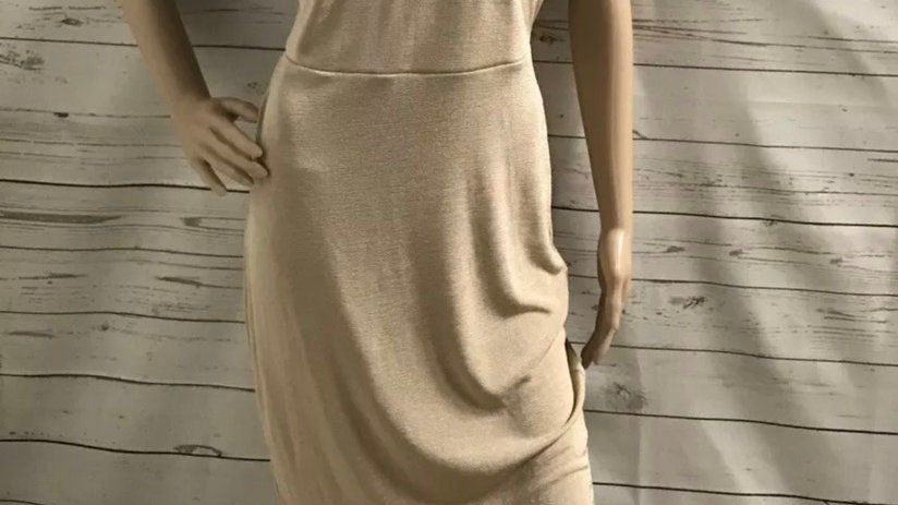 Women's / Ladies Missguided Nude Biege Colour Dress  Size 12 NEW With Tags