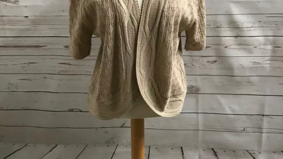 Women's / ladies mocha glimpse knit cardigan size S/M