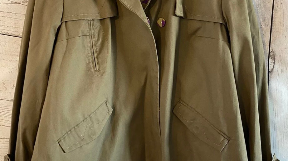 Womens / Ladies Next Brown Cotton Coat Size 16 - Immaculate Condition