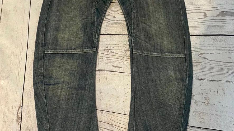 "Mens Topman Arc Leg Fit Blue Denim Jeans Size 32"" Waist Regular Leg Excellent"