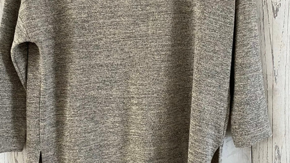 Womens / Ladies Warehouse Oatmeal Mix 3/4 Sleeve Top Size 10 Immaculate