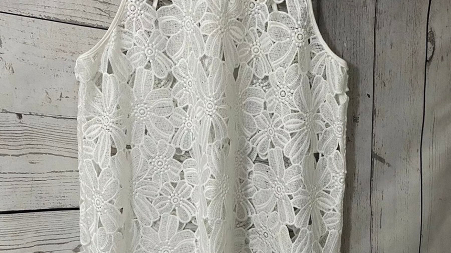 Womens / Ladies Atmosphere White Crochet Summer Beach Over Top Size XL Immaculat