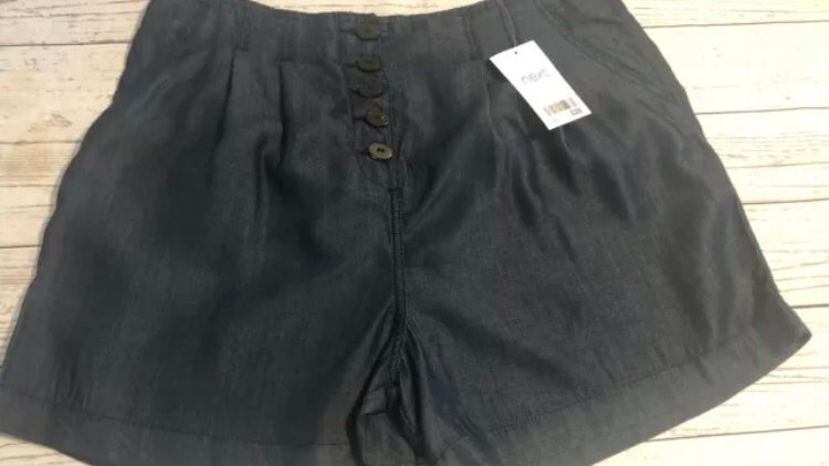 Womens / Ladies Next High Waist Denim Look Shorts Size 10 New With Tags