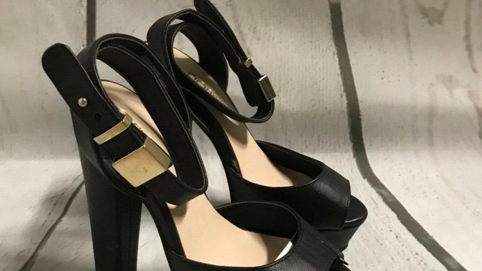 Women's / ladies fiore high heel black size 3 good condition