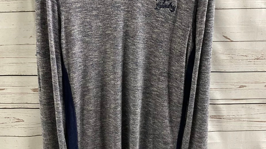 Mens Tokyo  Laundry Blue Long Sleeve Soft Lounge Top Size Large NEW With Tags
