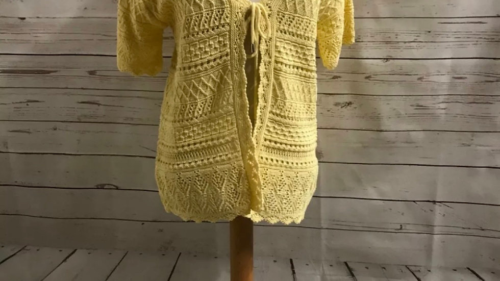 Womens / Ladies Glimpse Design Crochet Yellow Cardigan Size M/L New With Tags