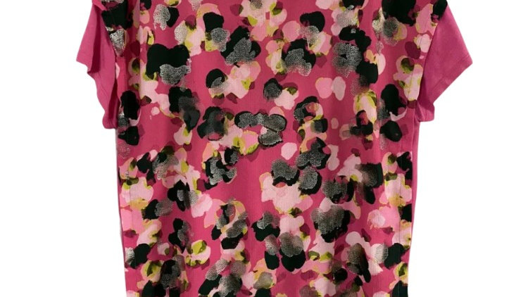 Womens / Ladies Next Pink Floral Blouse T-Shirt Top Size 14 Immaculate