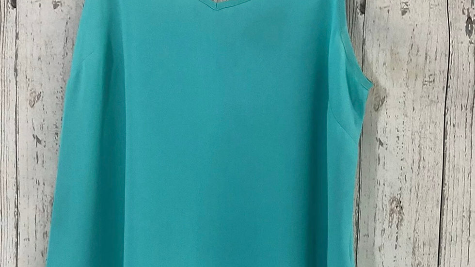 Womens / Ladies Primark Green Camisole Vest Top Size 8 Immaculate