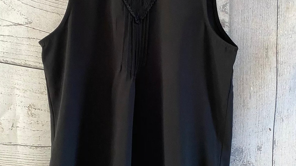 Womens / Ladies Peacocks Black Sleeveless Blouse Top Size 8 Immaculate
