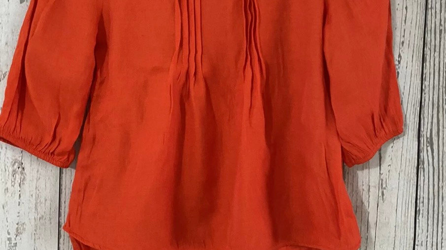Girls Next Orange Blouse Top Age 7 Years Immaculate Condition