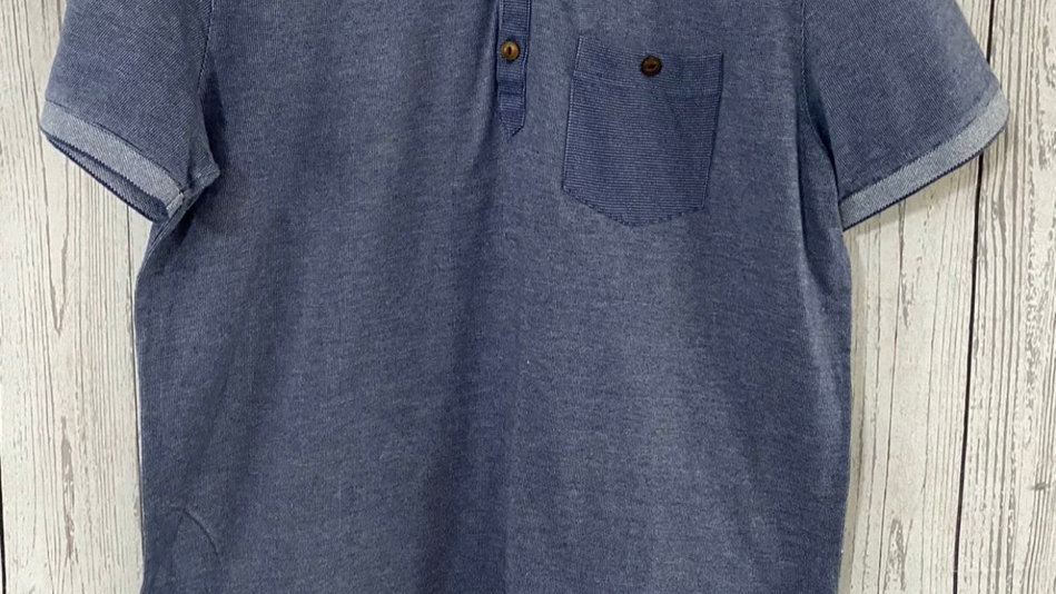 Mens Ted Baker Blue Polo Neck T-Shirt Size 4 Large Immaculate Condition