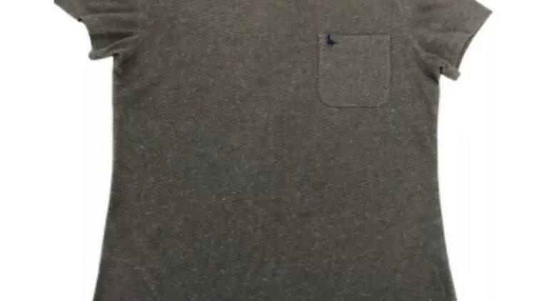 Mens Jack Wills Khaki White Fleck Short Sleeve T-Shirt Size Small Good Condition