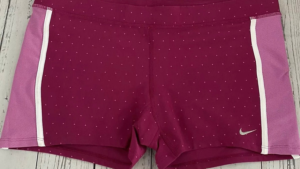 Womens / Ladie Nike Dri Fit Pink Spot Running Shorts Size XL New With Tags